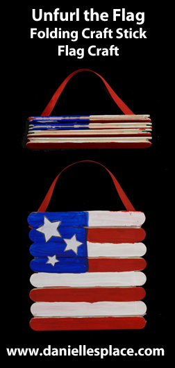 Unfurl the Flag Patriotic Craft Stick Craft for the Forth of July www.daniellesplace.com