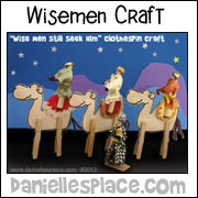 Wise Men on Camels Clothespin Craft