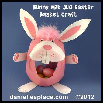 Easter crafts for kids easter bunny milk jug easter basket craft kids can make negle Choice Image
