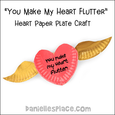 Paper Plate Heart with Wings Craft Kids Can Make from www.daniellesplace.com