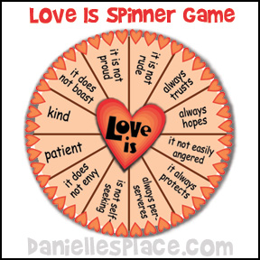 Love Is Spinner Game from www.daniellesplace.com