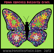 foam confetti butterfly craft www.daniellesplace.com