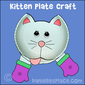 Three Little Kittens Preschool Craft and Matching Game