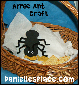 Arnie Ant in a Basket Bible Craft for Sunday School www.daniellesplace.com