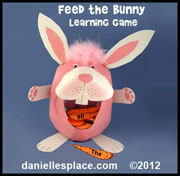 Feed the Bunny Carrots Spelling Word or Site Word Review Game
