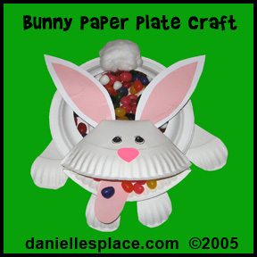 Easter Craft - Paper Plate Easter Bunny Candy Dish Craft Kids Can Make