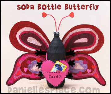 Butterfly Valentine's Day Card Holder Kids Can Make www.daniellesplace.com