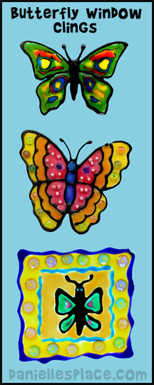 Butterfly Window Cling Craft Kids Can Make