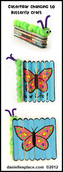 Caterpillar turning into a Butterfly Craft Kids Can Make