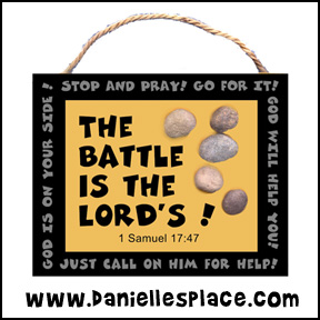 The Battle is the Lord Bible Crafts from www.daniellesplace.com