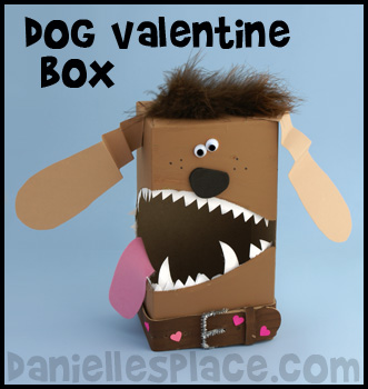 Dog Tissue Box Valentine's Day Craft for Kids