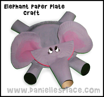 Paper plate Elephant Craft Kids Can Make www.daniellesplace.com