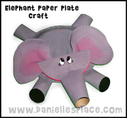 Elephant Paper Plate Craft from www.daniellesplace.com