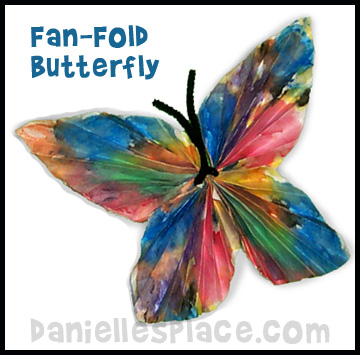 Fan Fold Butterfly Craft www.daniellesplace.com