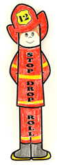 fireman bookmark craft