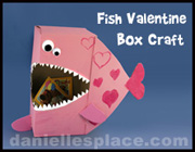 Fish Valentine's Day Box from www.daniellesplace.com