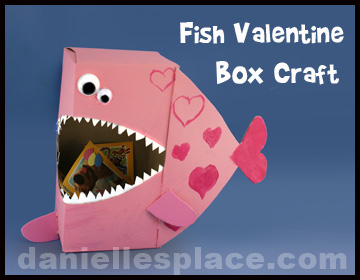 fish valentine box craft kids can make