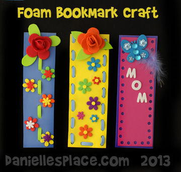 Foam Bookmark Crafts Kids Can Make for Mother's Day