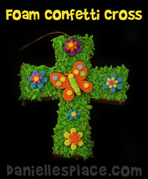 Foam Confetti Cross Kids Can Make for Easter