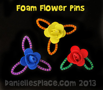 3-D Flower Pin Craft Kids Can Make for Mother's Day