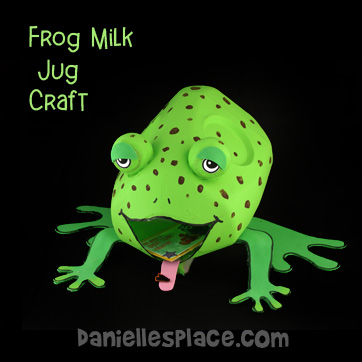 Frog Valentine Card  Box Made From a Milk Jug Craft Kids Can Make