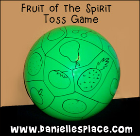 Fruit of the Spirit Toss Game www.daniellesplace.com