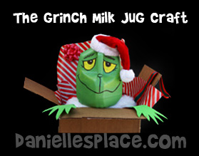 Grinch Milk Jug Craft www.daniellesplace.com