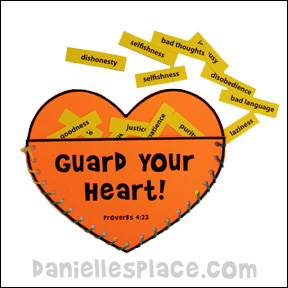 Guard My Heart Craft  from www.daniellesplace.com