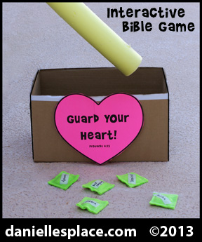 Guard Your Heart Interactive Bible Game for Sunday School