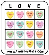 Heart Bingo Game