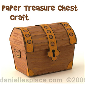 Paper treasure box craft for Sunday School or Children's Ministry from www.daniellesplace.com