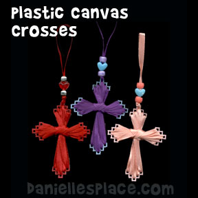 Plastic Canvas Cross Bible Craft from www.daniellesplace.com