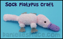 Platypus Sock Craft for Kids www.daniellesplace.com