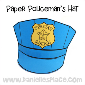 Police hat craft www.daniellesplace.com