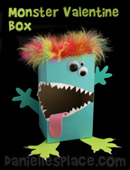 Monster Valentine's Day Box Craft from www.daniellesplace.com
