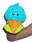 sunday school bird hand pupped bible craft