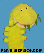 Squirmy the Worm Sock Puppet