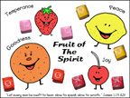 sunday school fruit of the spirit picture with starburst candy bible craft