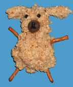 Rice Krispie Treat Sheep Craft