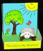 sunday school Psalms 23 - Sheep in pasture bible craft for kids