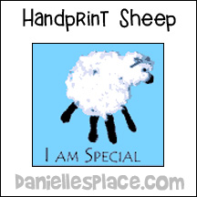 Sheep Handprint Craft for Kids