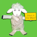 sunday school Jesus is the Way Plastic Bag Sheep bible Craft for Psalm 23