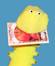 Tomato Worm Sock Puppet