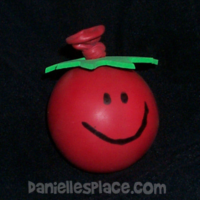 sunday school tomato stress balls bible craft from www.daniellesplace.com