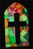 Sunday School Church Stained Glass Window Craft bible craft