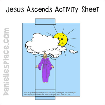 Jesus Ascends Activity Sheet for Sunday School www.daniellesplace.com