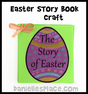 Easter Story Book Bible Craft www.daniellesplace.com