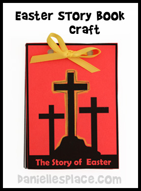 Easter Story Book Bible Craft for Kids
