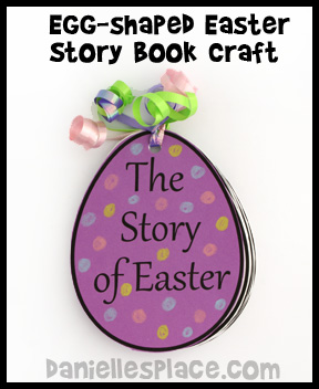 Easter Story Egg-shaped Book Bible Craft