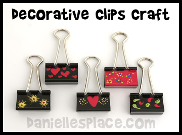Decorative Clips made from Binder Clips www.daniellesplace.com